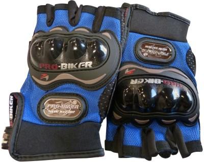 Pro Biker Bike Racing Motorcycle Riding Gloves (XL, Blue)