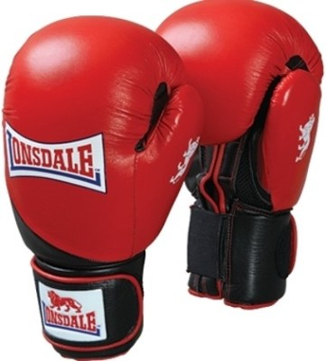 Lonsdale Pro Safe Boxing Gloves (Size-14, Red, Black)