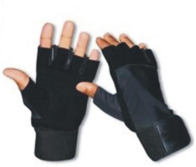 CP Bigbasket Sweat leather full Black Gym & Fitness Gloves (Free Size, Black)