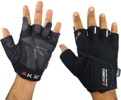 Kobo Grippy Series Gym & Fitness Gloves (S, Black)