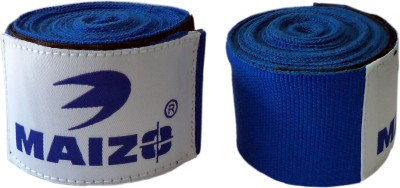 Maizo Stretchable 180 Inch Hand Wraps Blue Boxing Gloves (L, Blue)