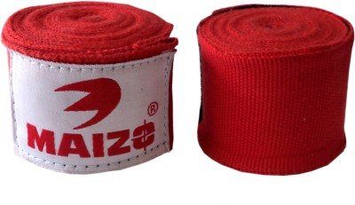 Maizo Stretchable 180 Inch Hand Wraps Red Boxing Gloves (L, Red)
