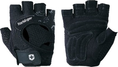 Harbinger Fitness Womens Flexfit Wash & Dry Gym & Fitness Gloves (S, Black, Grey, White)