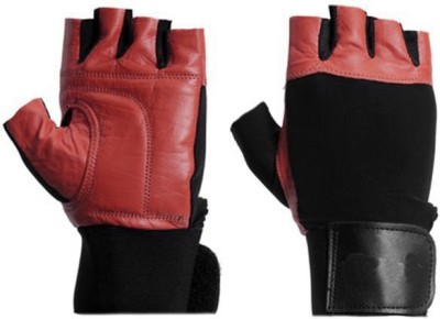Protoner Lycra Gym & Fitness Gloves (Free Size, Brown)