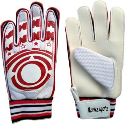 monika sports moni Football Gloves (M, White, Red)