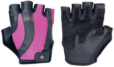 Harbinger Pro Women`s Gym & Fitness Gloves (M, Black, Pink)