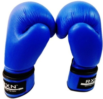 RXN Competition Style 10Oz Boxing Gloves (L, Blue)