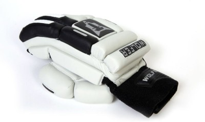 Wolfer Feather Weight (Right Hand) Batting Gloves (Men, Black, White)