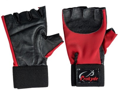 Prokyde ɣ-Sleek Gym & Fitness Gloves (Free Size, Red)