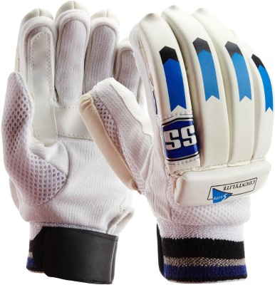 SS Countylite Batting Gloves (Men, White, Blue)