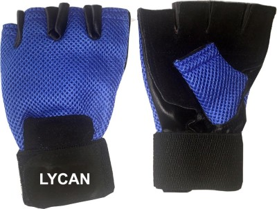 Lycan Fire Gym & Fitness Gloves (L, Blue)
