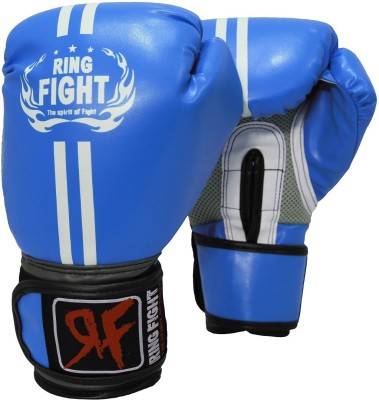 Ring Fight Pro Boxing Gloves (M, Blue)