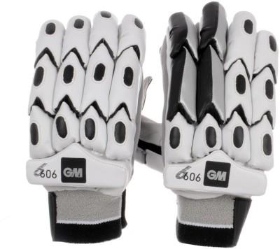 GM 606 Batting Gloves (Men, White, Black)