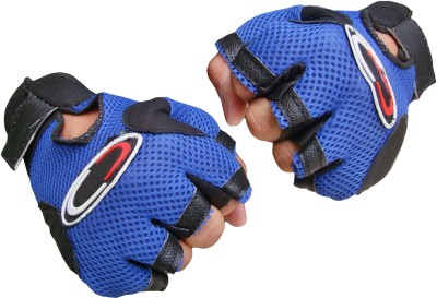 Jack & Ginni Gyming Gym & Fitness Gloves (Free Size, Blue)