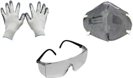 3M Anti Dust Face Mask Driving Gloves (XL, Multicolor)