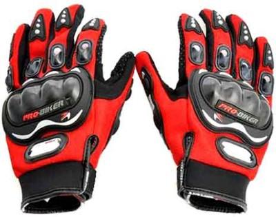 Pro Biker Full Figer Riding Gloves (XXL, Red)