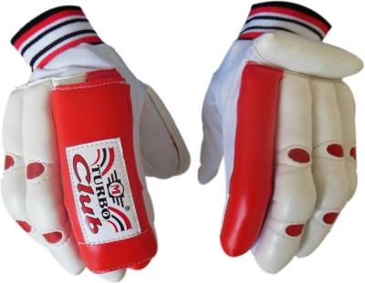 Turbo CLUB Batting Gloves (Men, White, Red)