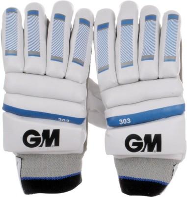 GM 303 Batting Gloves (Men, White, Blue, Black)