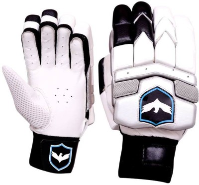 Birdblue V-1800 Batting Gloves (Men, Black, White)