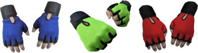 Jack & Ginni Gloves Gym & Fitness Gloves (Free Size, Blue, Green, Red)