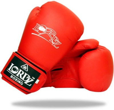Lordz Synthetic Leather Contender Training Boxing Gloves (XXL, Red)