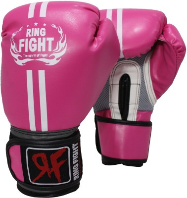 Ring Fight Pro Boxing Gloves (S, Pink)