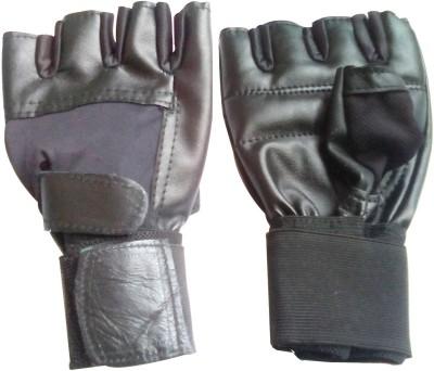 Unik Glove Gym & Fitness Gloves (Free Size, Black)