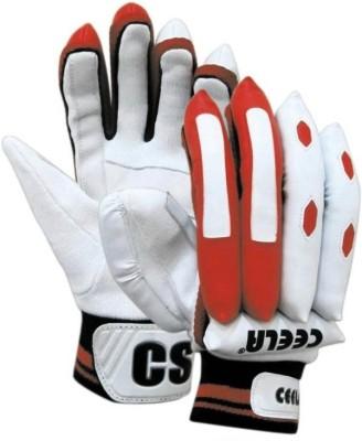Ceela Classic Batting Gloves (L, White, Red)