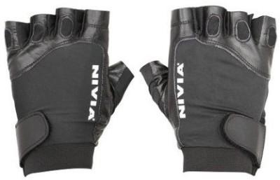 Nivia viper Gym & Fitness Gloves (L, Black)