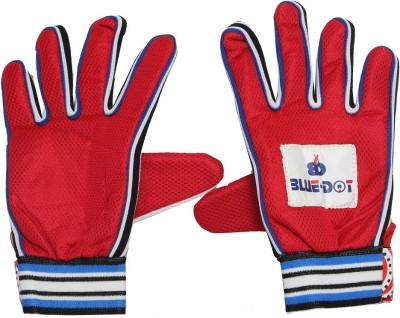 Blue dot plain Goalkeeping Gloves (Free Size, Multicolor)