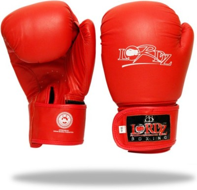 Lordz New Style Competition Boxing Boxing Gloves (L, Red)