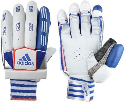 Adidas BG VECTOR V1 16 Batting Gloves (M, White, Blue, Red)