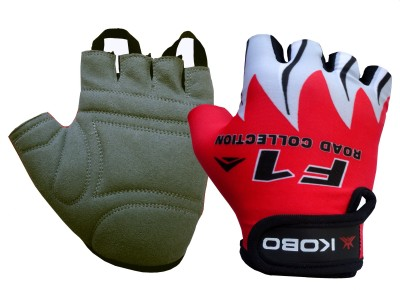 Kobo Biker Red Cycling Gloves (XL, Red)