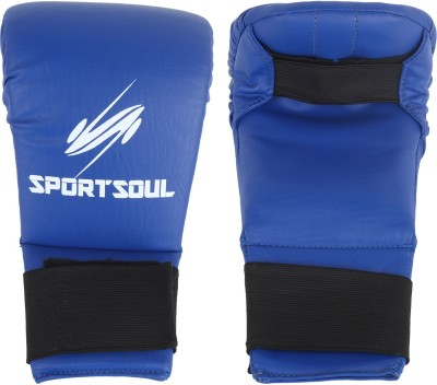 SportSoul Classic Karate Gloves Boxing Gloves (M, Blue)