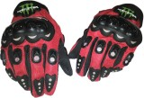 Monster Glove Riding Gloves (L, Red, Bla...