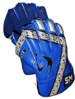 SM Vigour Wicket Keeping Gloves (Men, Blue)