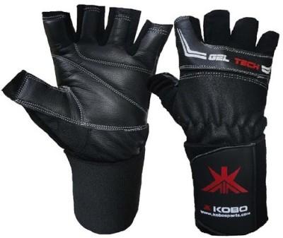 Kobo WTG-01BLK Weight Training Gym & Fitness Gloves (M, Black)
