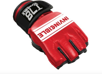 Invincible Open Palm MMA Combat Boxing Gloves (M, Red)
