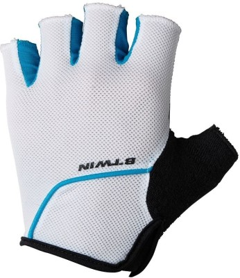 Btwin 500 Cycling Gloves (M, White)
