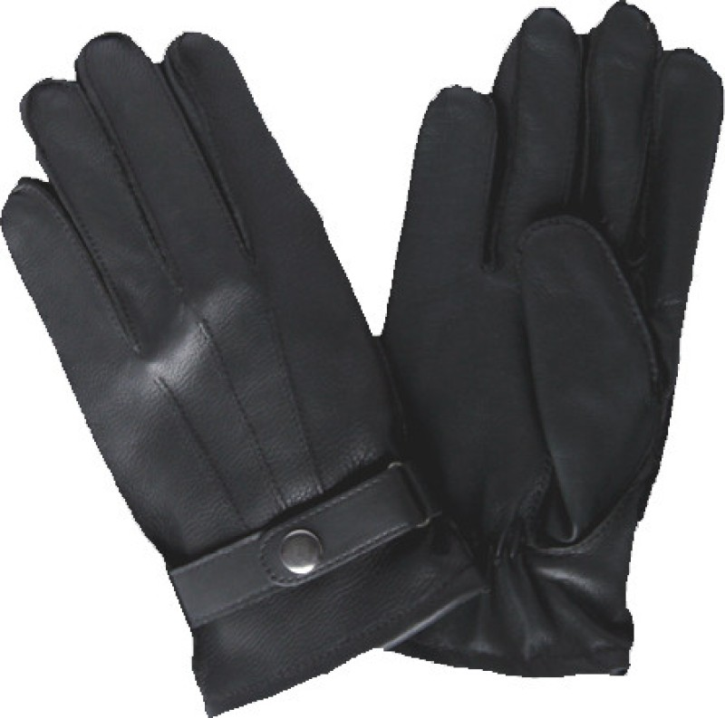 Matrix Leather Gym & Fitness Gloves (M, Black)