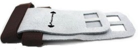 The SweatShop Gymnastic Hand Grips - Soft Textured Leather,velcro closure Gym & Fitness Gloves (L, Grey)