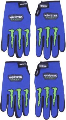 Belmarsh Monster Riding Gloves (Free Size, Blue)