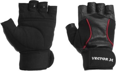 Vector X VX-800 Gym & Fitness Gloves (M, Black)