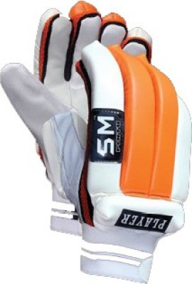 SM Player Gym & Fitness Gloves (Men, White, Orange)