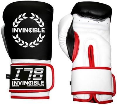 Invincible Cardio Fitness Training Boxing Gloves (Men, Black)