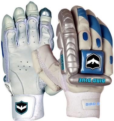 Birdblue Speed Strome Batting Gloves (Youth, White, Blue)