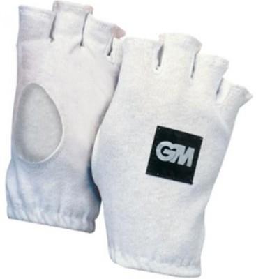 GM Fingerless Batting Gloves (Men, White)