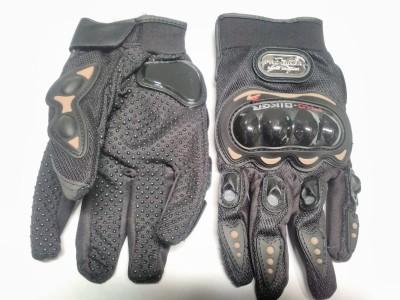 Pro Biker Full Finger Riding Gloves (L, Black)