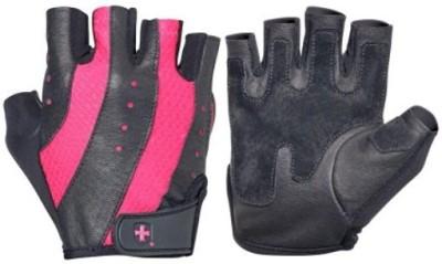 Harbinger Fitness Womens Pro Wash & Dry Gym & Fitness Gloves (L, Black, Pink)