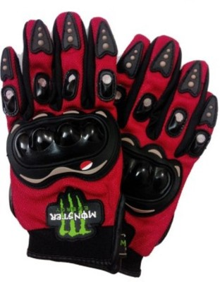 Capeshoppers MONSTER Driving Gloves (L, Red, Multicolor)